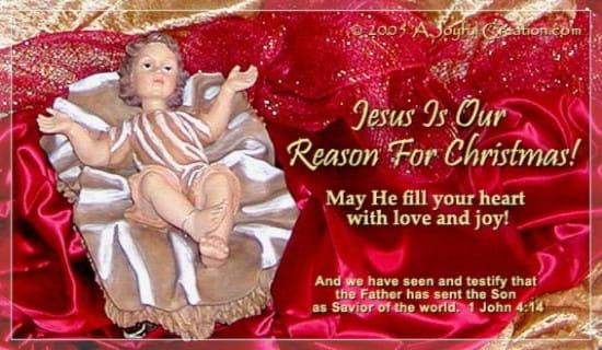 Jesus is Our Reason ecard, online card