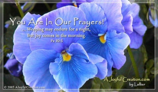 In Our Prayers ecard, online card
