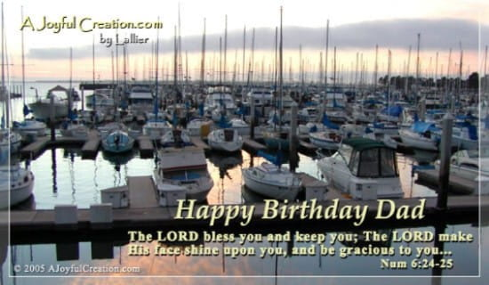 Happy Birthday Dad ecard, online card