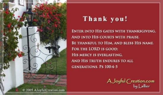 Enter His Gates ecard, online card