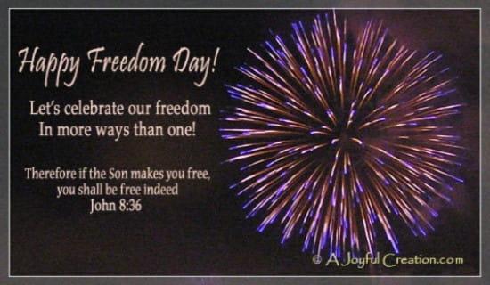 Freedom Day ecard, online card