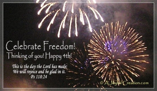 Celebrate Freedom ecard, online card