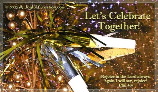 Let's Celebrate ecard, online card