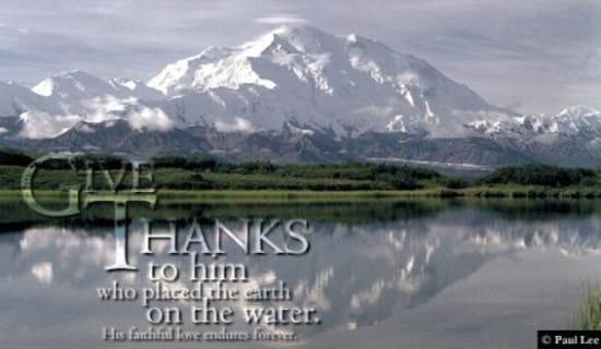Psalm 136:6 ecard, online card