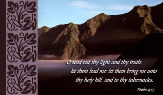Psalm 43:3 ecard, online card