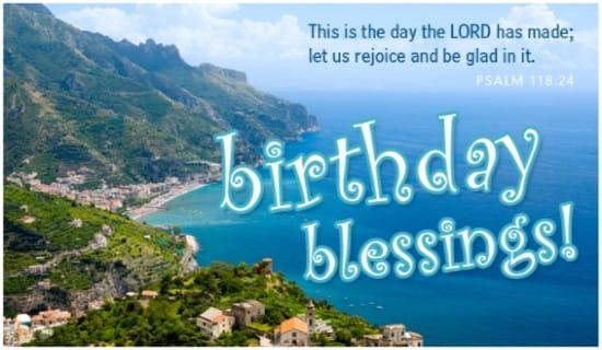 Birthday Blessings ecard, online card