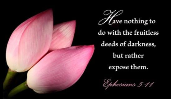 Ephesians 5:11 ecard, online card