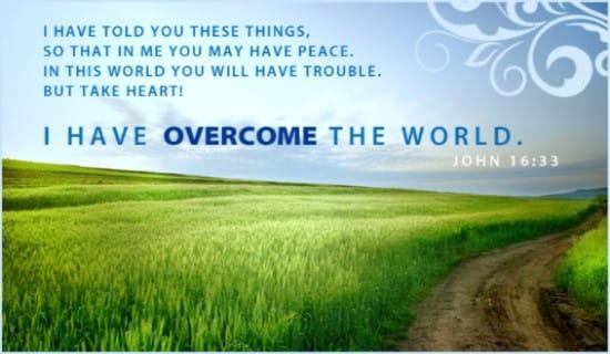 John 16:33 ecard, online card