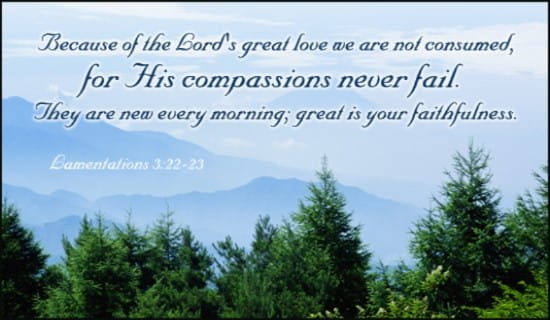 Lam. 3:22-23 ecard, online card