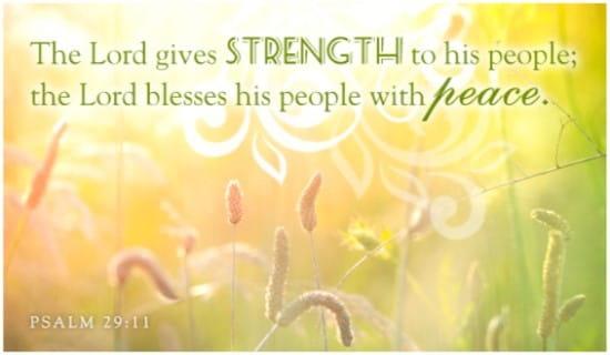 Psalm 29:11 ecard, online card