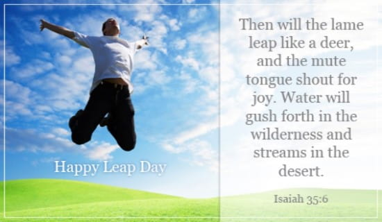 Happy Leap Day ecard, online card