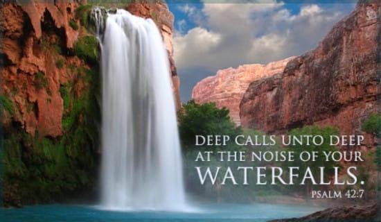 Psalm 42:7 ecard, online card