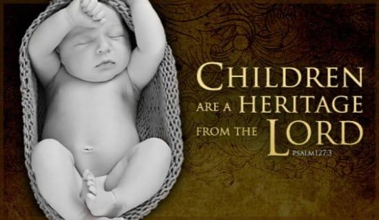 Children Heritage ecard, online card