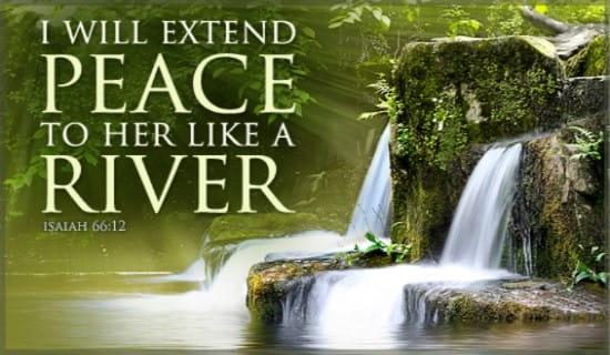Peace Like River ecard, online card