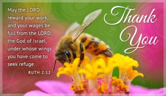 Thank You Bee ecard, online card