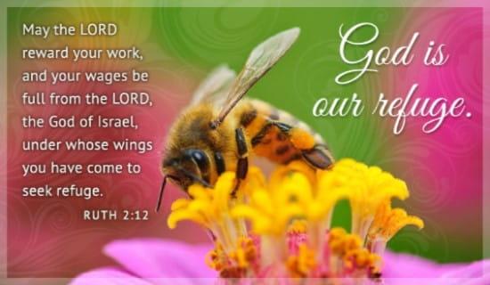 God is our Refuge ecard, online card
