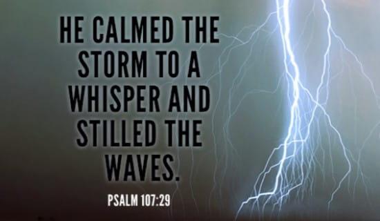 Psalm 107:29 ecard, online card
