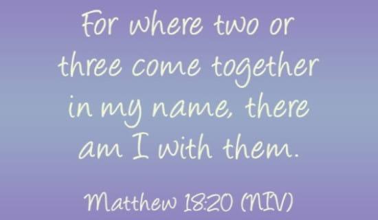 Matthew 18:20 NIV ecard, online card