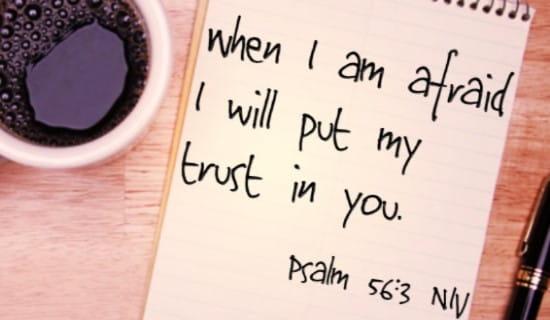 Psalm 56:3 NIV ecard, online card