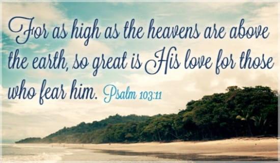Psalm 103:11 ecard, online card