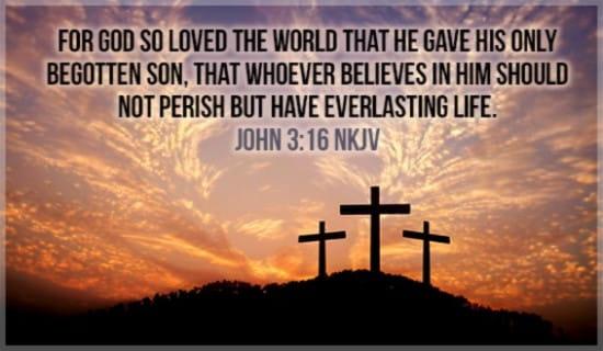 John 3:16 ecard, online card