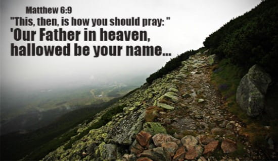 This is how you should pray... ecard, online card