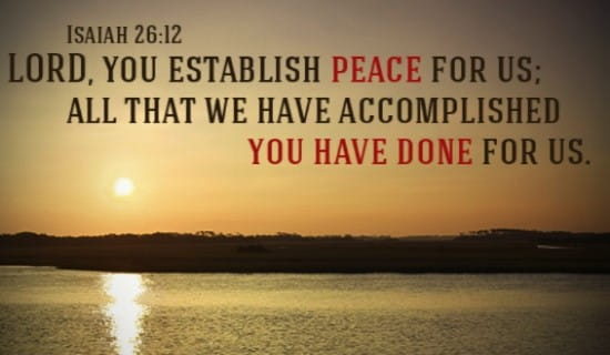 God Establishes Peace ecard, online card