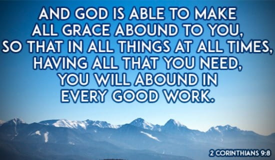 God's Grace Gives Me Everything! ecard, online card