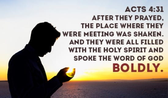 Speak the Word of God with BOLDNESS ecard, online card