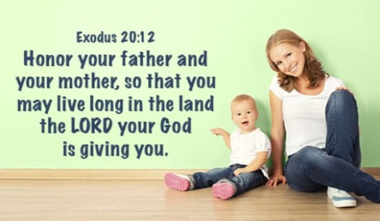 Honor your father and mother! ecard, online card