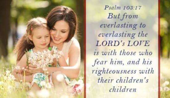 Psalm 103:17 ecard, online card
