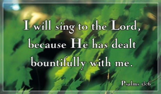 Sing To The Lord ecard, online card