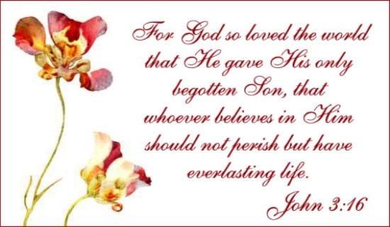God So Loved ecard, online card