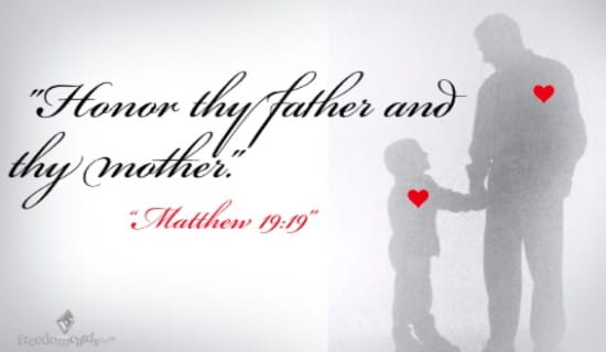 Honor Thy Father and Thy Mother ecard, online card
