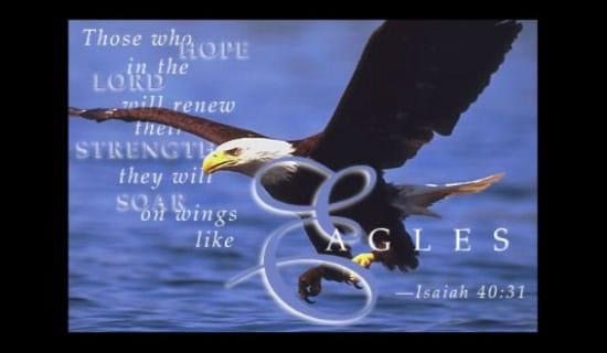 Wings of Eagles ecard, online card