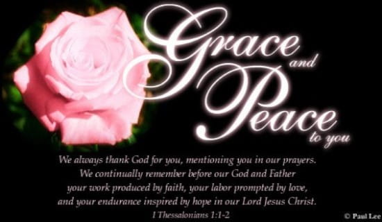 Grace And Peace ecard, online card