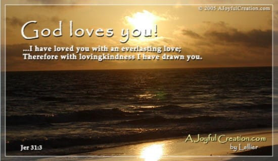 God Loves You ecard, online card
