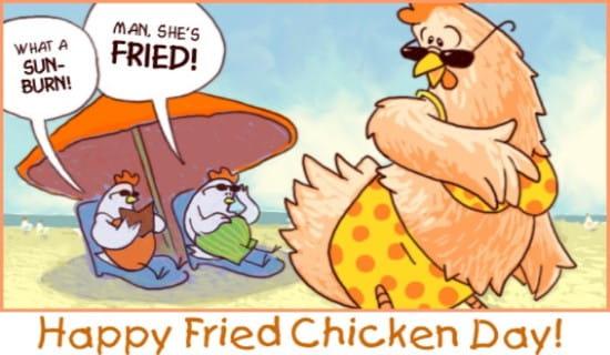 Fried Chicken Day (7/6) ecard, online card