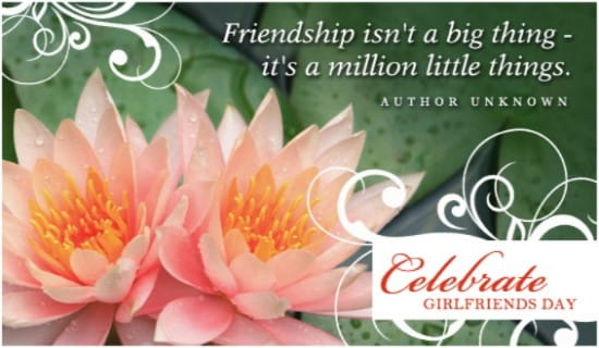 Girlfriends Day (8/1) ecard, online card