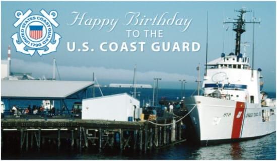 Coast Guard Birthday (8/4) ecard, online card