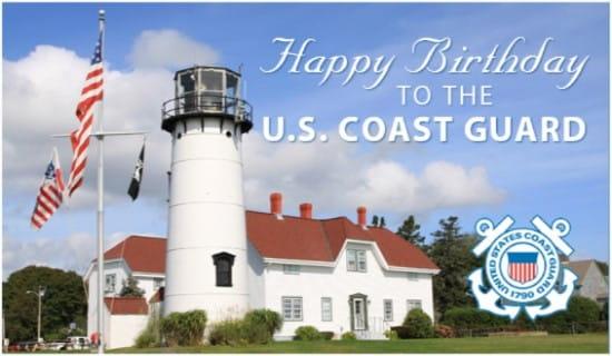 Coast Guard Birthday ecard, online card