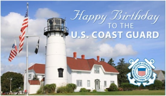 Coast Guard Birthday ecard, online card
