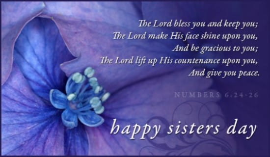 Sisters Day (8/7) ecard, online card