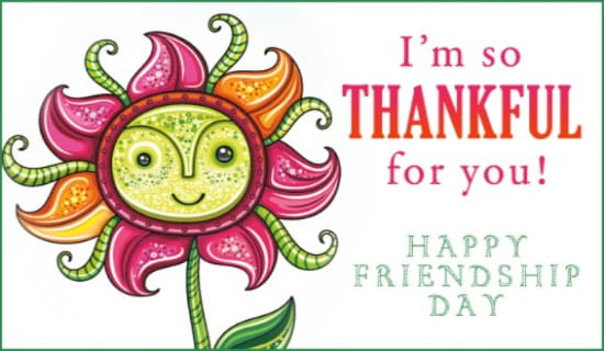 Friendship Day (8/7) ecard, online card