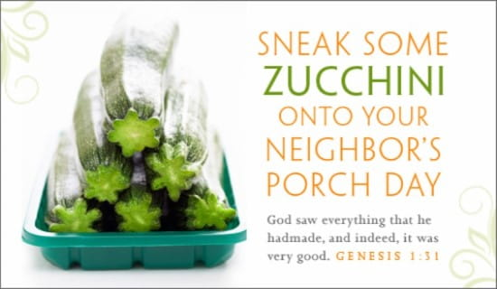Zucchini Day (8/8) ecard, online card