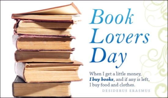 Book Lovers Day (8/9) ecard, online card