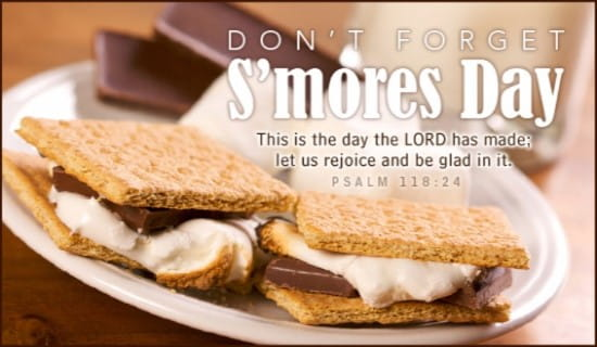 S'mores Day (8/10) ecard, online card