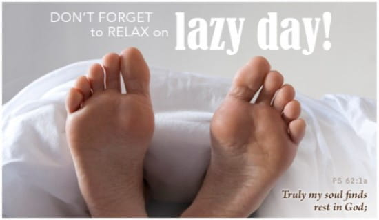 Lazy Day (8/10) ecard, online card