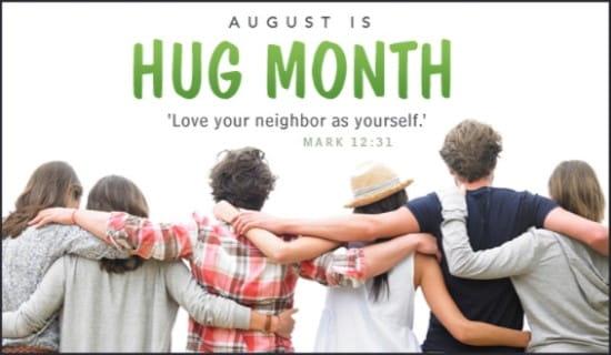 Hug Month (Aug) ecard, online card