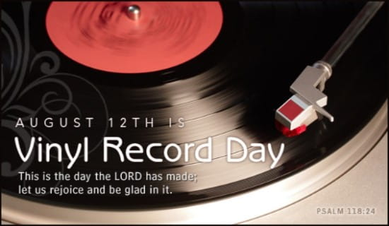 Vinyl Record Day (8/12) ecard, online card